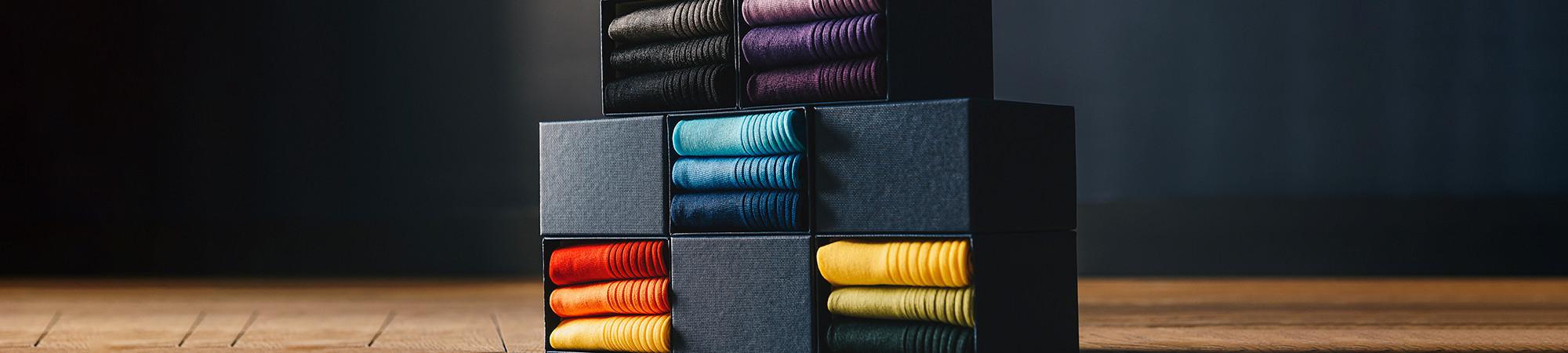 Chaussettes pour homme en fil d'écosse - Emling